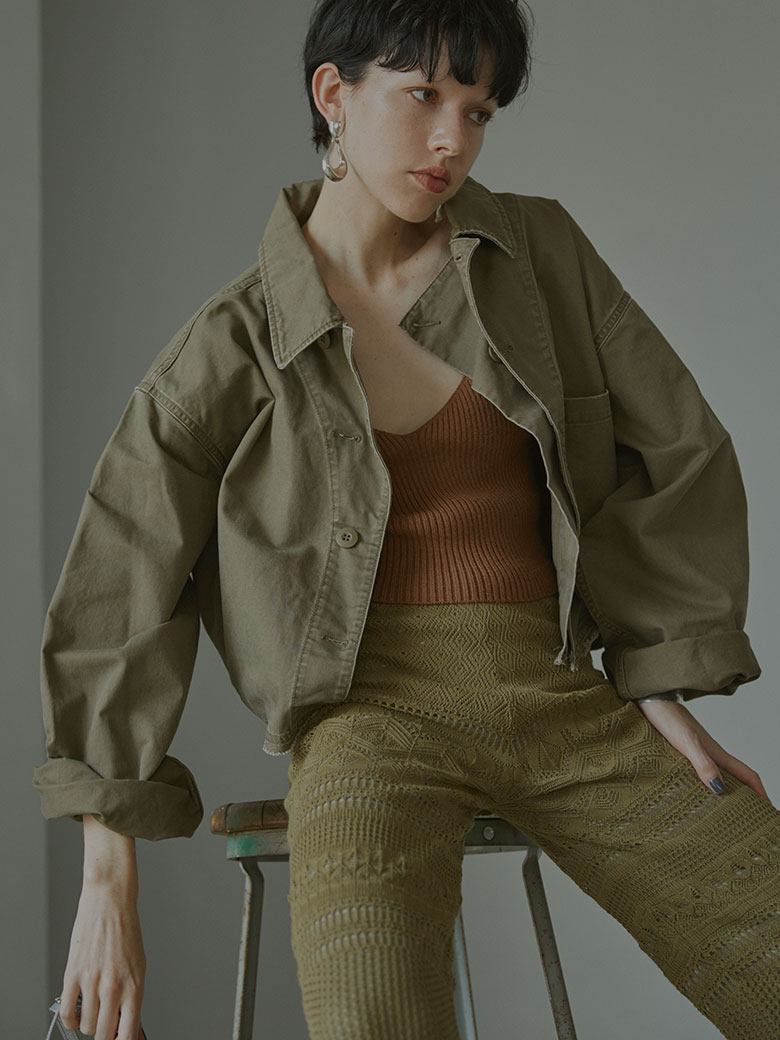 MILITARY VOLUME SHORT JACKET