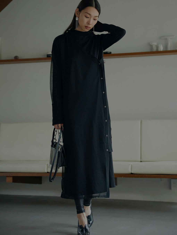 ELABORATE KNIT DRESS