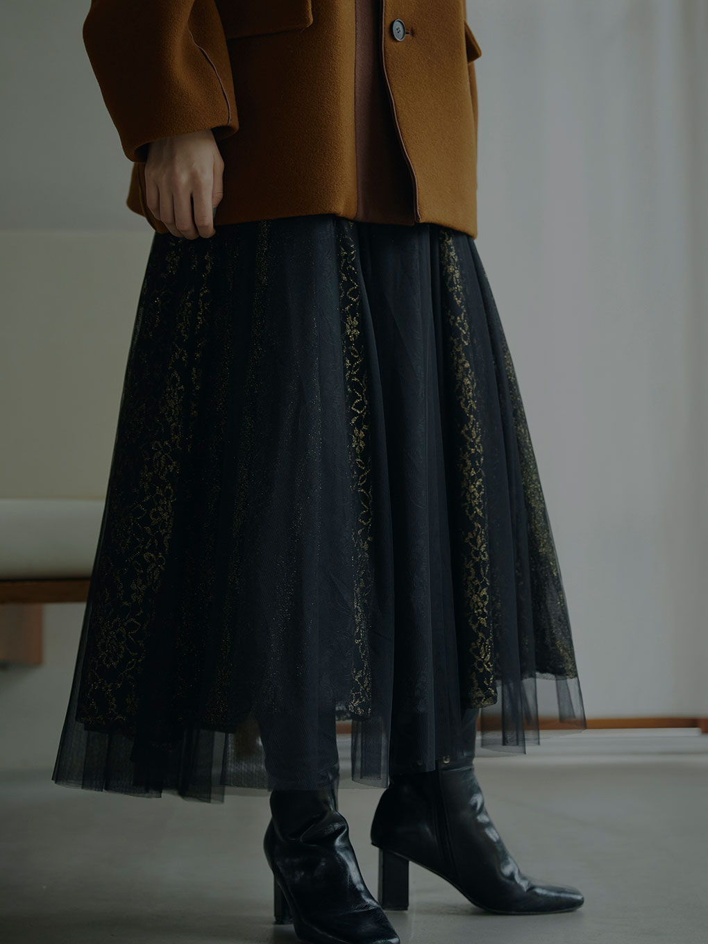 CURTAIN LACE TULLE SKIRT