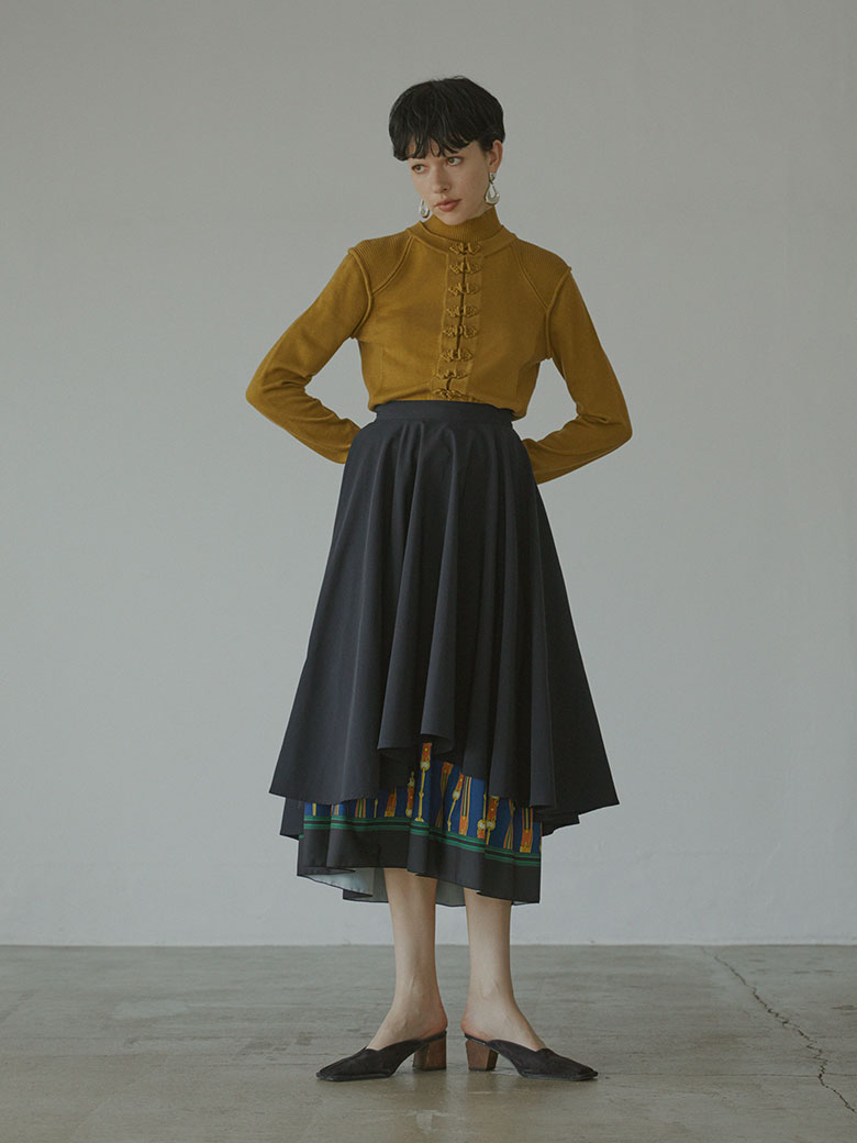LAYERED FLARE SKIRT