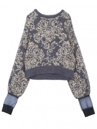 DAMASK JACQUARD KNIT