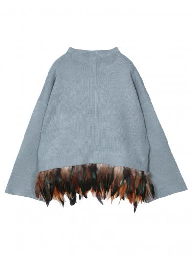 OSTRICH FEATHER KNIT
