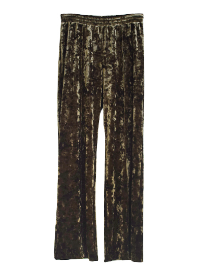 CLUSH VELVET STRAIGHT PANTS