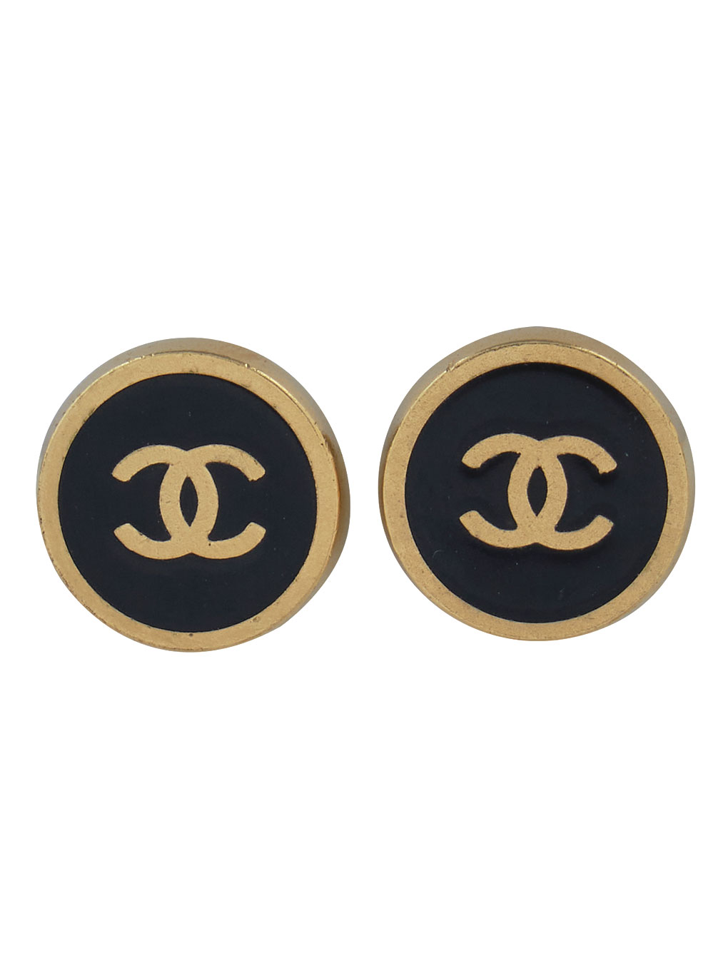 CHANEL LOGO EARRINGS
