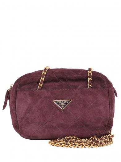 PRADA SUEDE W CHAIN BAG