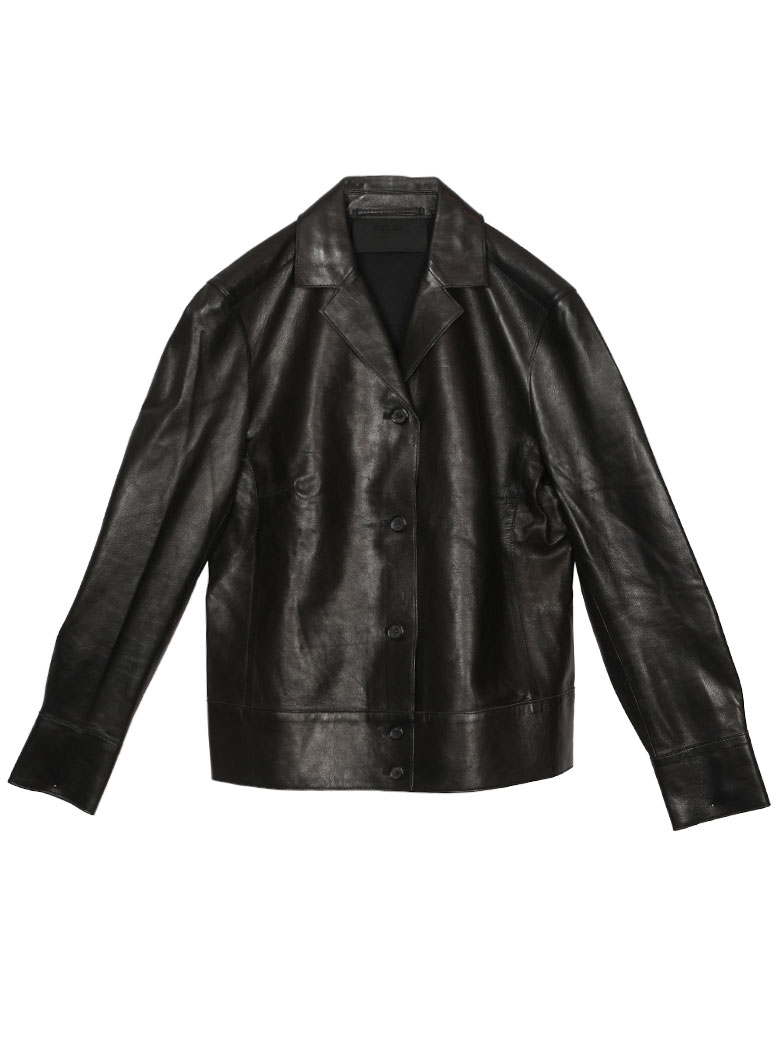 PRADA LEATHER TAILORED JACKET