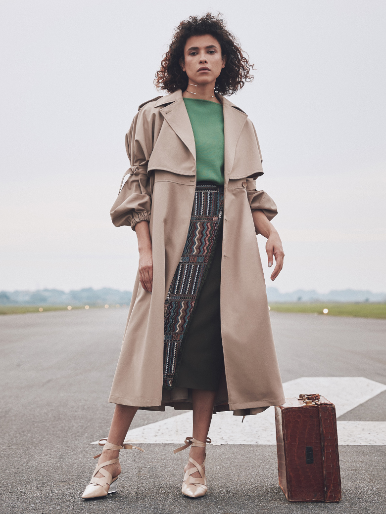 GOURD SLEEVE TRENCH COAT