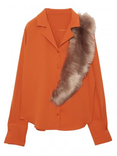 DOCKING FUR OPEN SHIRT