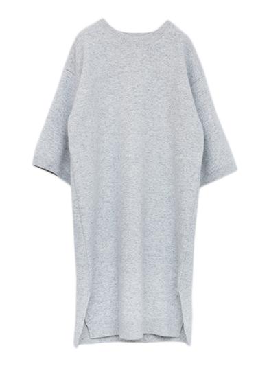 WOOL HIGAUGE KNIT DRESS