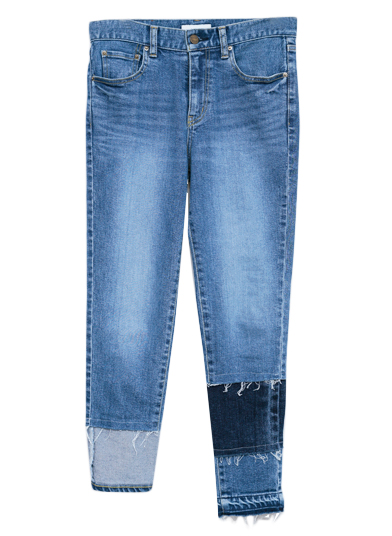 MULTI COLOR HEM DENIM
