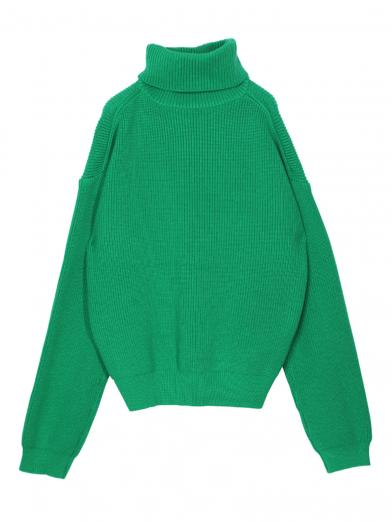 OVER TURTLE KNIT