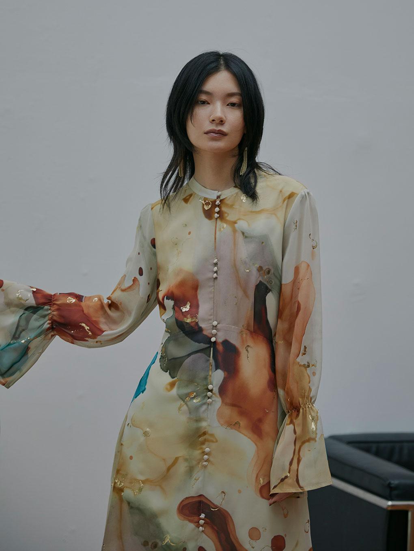 UNDRESSED AMELIA INK ART DRESS