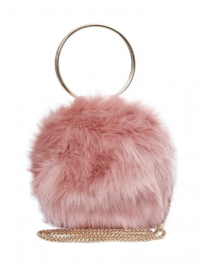 ECO FUR RING BAG