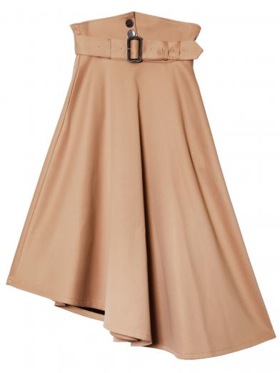 VOLUME WIDE BELT SKIRT