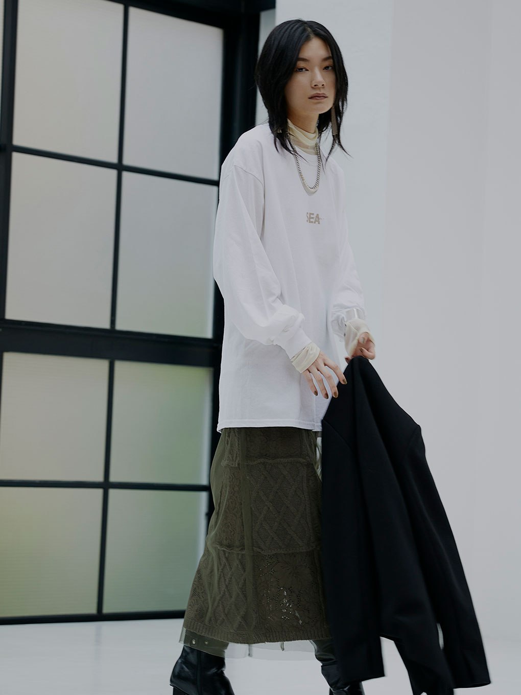 WIND AND SEA COLLAB LS TEE 20AW