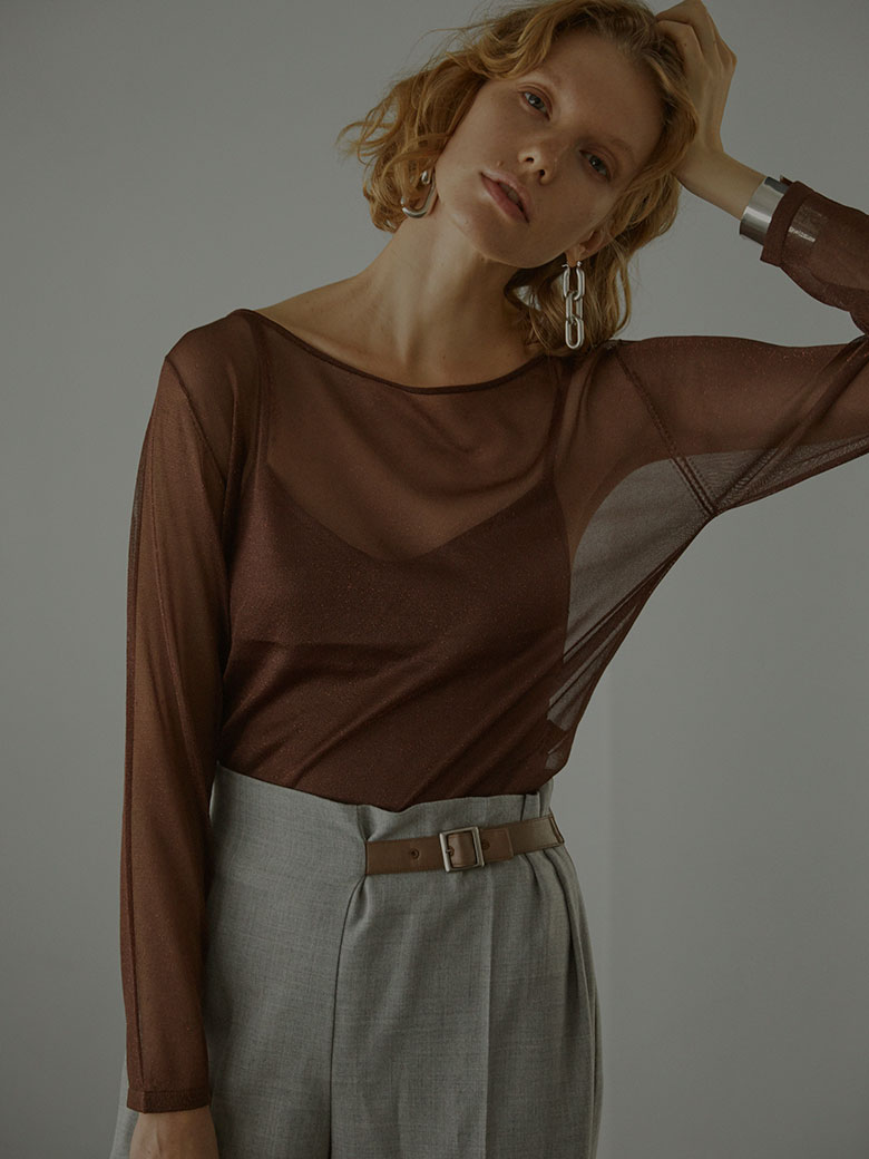 UNDRESSED SHEER LAME TOP