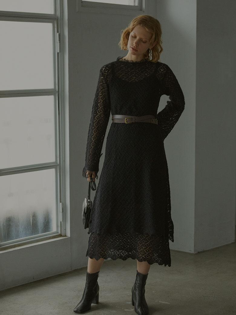 UNDRESSED GEOMETRIC LAYERED KNIT DRESS