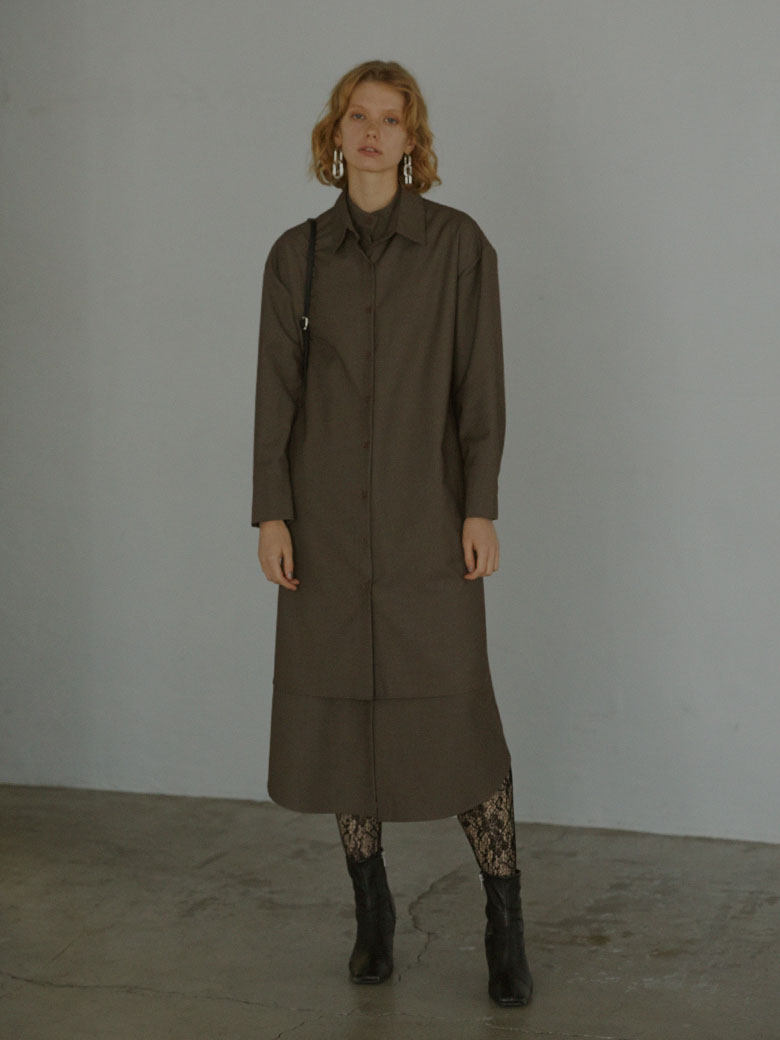 UNDRESSED LAYERED SHIRT DRESS