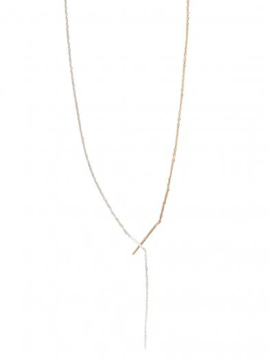 10K THIN CROSS CHAIN NECKLACE