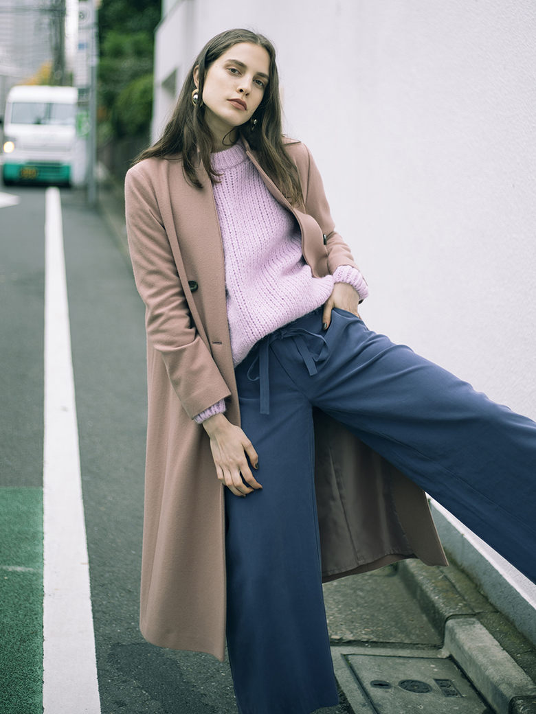 STAND COLLAR TAILORED COAT