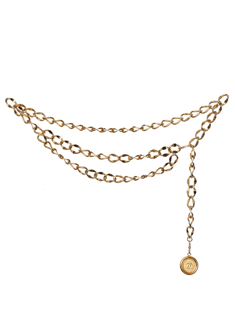 CHANEL COCO PLATE CHAIN BELT