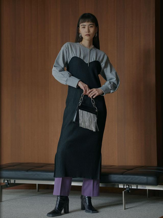 SWEAT KNIT DRESS