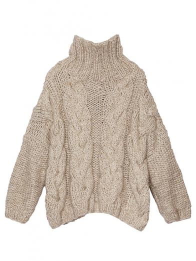 MIXYARN CABLE KNIT