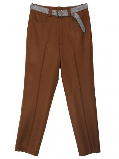 BELT POINT TAPERED PANTS