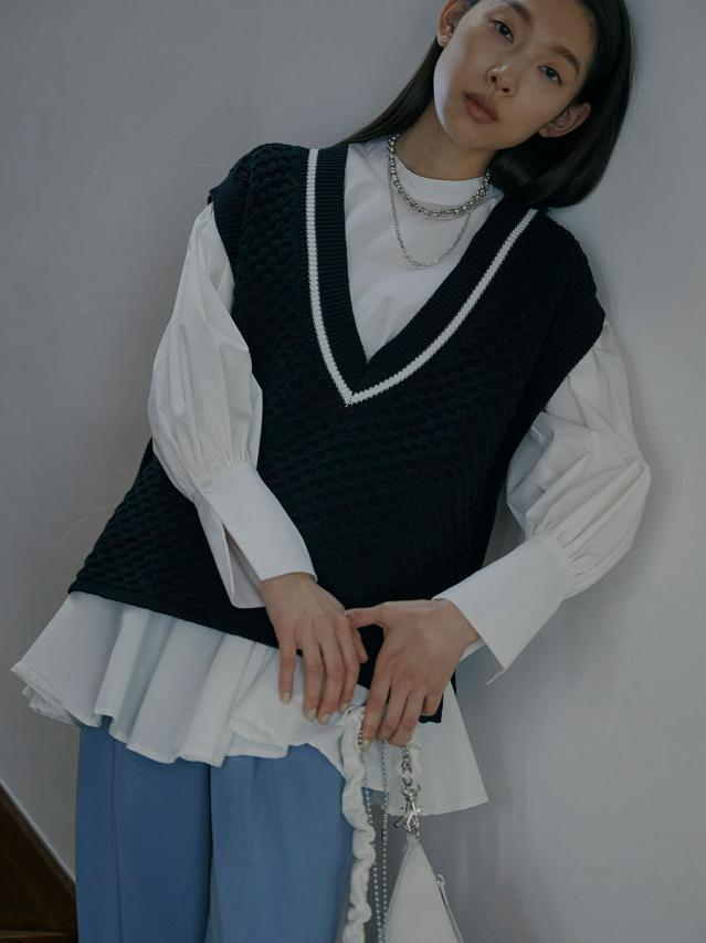 FLARE SHIRT WITH VEST