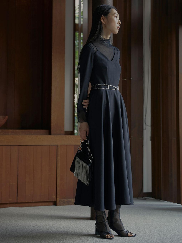 SEETHROUGH SHOULDER DRESS