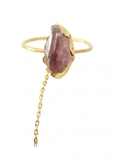 GEMSTONE CHAIN RING