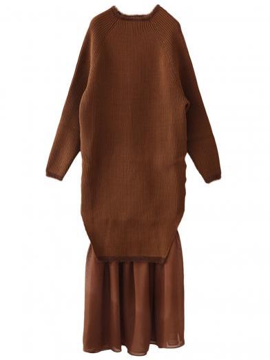 BOTTLE KNIT DRESS