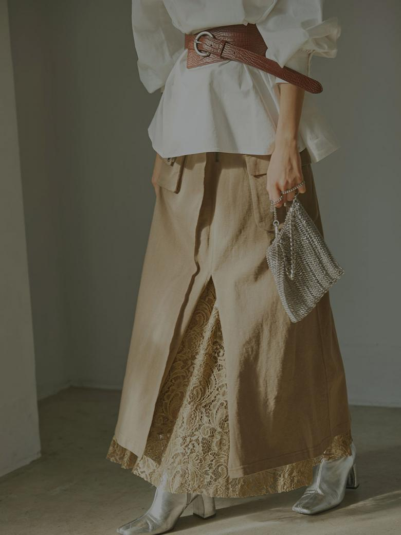 WORK LAYERED SKIRT