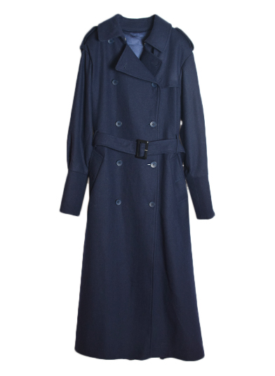 BACK PLEATS TRENCH